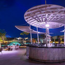 soleil pool lounge night web
