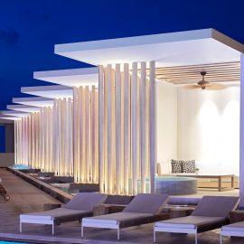 soleil pool lounge night cabana web