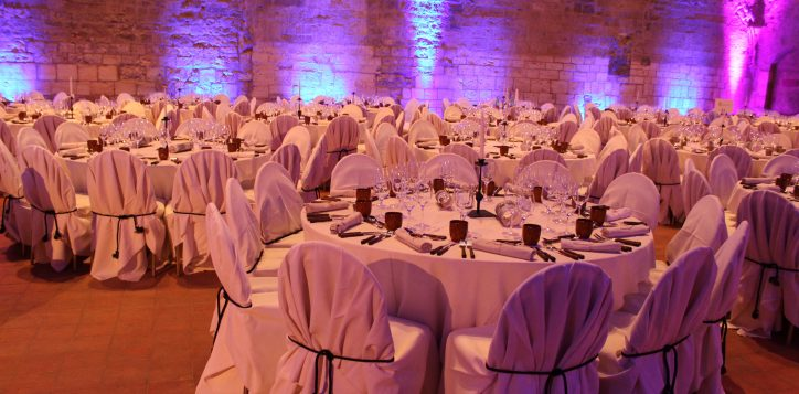 st francis church gala dinner set up