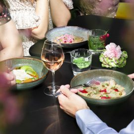 Restaurant Blossom c t jardin