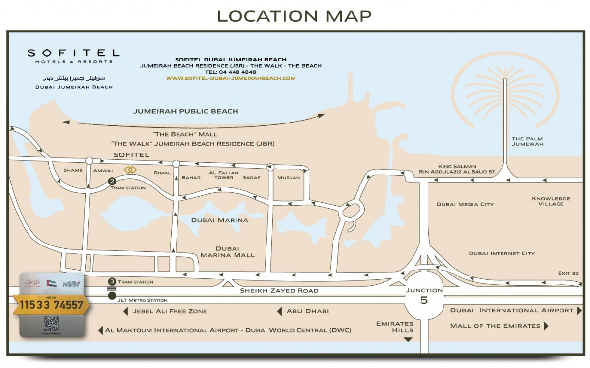 Sofitel Dubai Jumeirah Beach - Location-Map-Sofitel-Dubai on