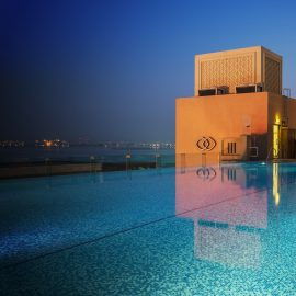Infini Pool Night View Croped Image