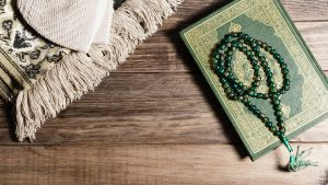 Arabic Muslim holy book Koran background