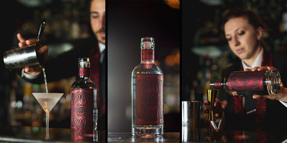 Juan and Charlotte working with the new Beaufort Bar vodka
