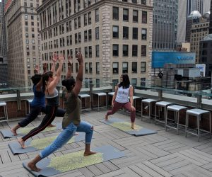 Yoga with a view - Novotel New York Times Square